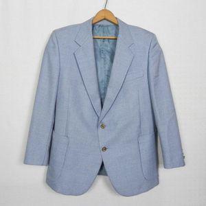 Vintage | Italian Snazzy Light Blue Sport Coat 40